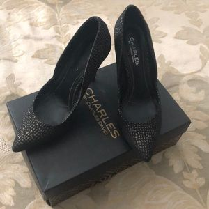 Charles by Charles David black and gold heel